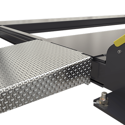 Extended 1,219 mm Aluminium Approach Ramp Kit for 4-Post Hoists by BendPak