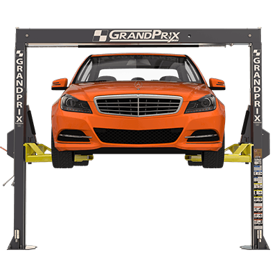 GrandPrix GP-7LCS Low-Ceiling Two-Post Lift with a 2,705 mm Height