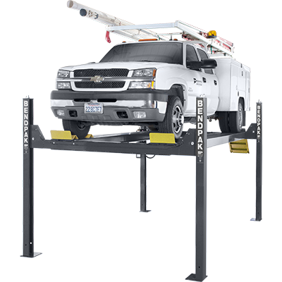 HD-14T Extra-Tall Rise Four-Post Lift by BendPak