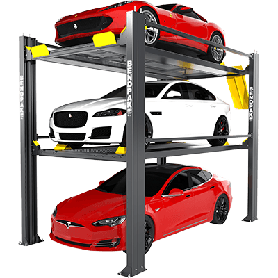 HD-973P tri-level parking lift and car stacker