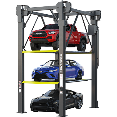Three-Level Parking Lift by BendPak