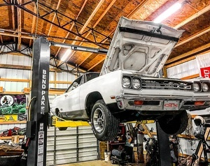 69 Plymouth Raised BendPak Two Post Lift