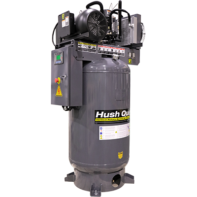 RS7580V‐601 7.5 HP Rotary-Screw Air Compressor / Vertical 80-Gallon Tank / 208-230V, 60HZ, 1-Phase