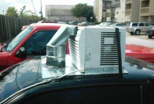 DIY Air Condition in Vehicle Funny