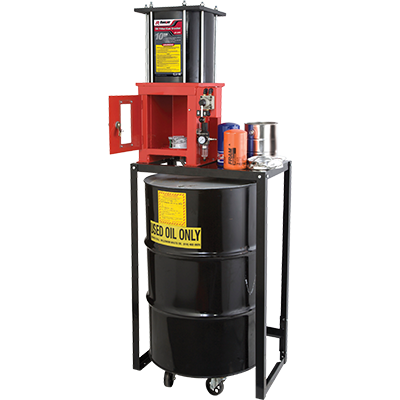 RP-20FC Oil Filter Crusher with Stand / 10-Ton (9-mt.) Capacity