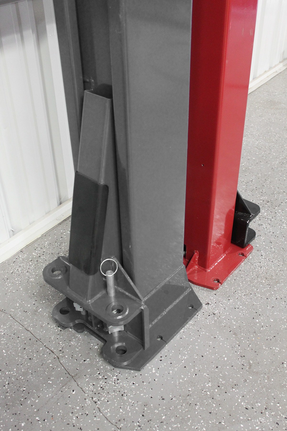 BendPak Two-Post lift and Challenger Two-Post lift Back-to-Back