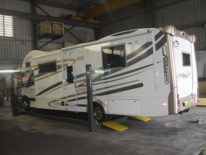 Extended Length Four Post Lift RV Camper