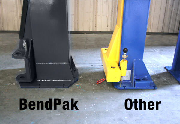 BendPak Car lift Side Bottom